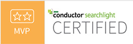 Conductor Searchlight MVP certification badge