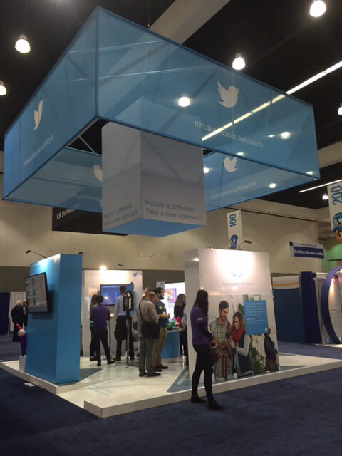 Twitter booth at DMA &THEN 2016 Conference