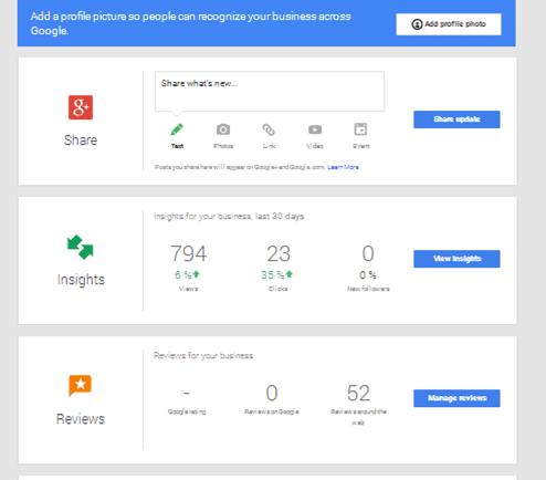 1- Google My Business Dashboard