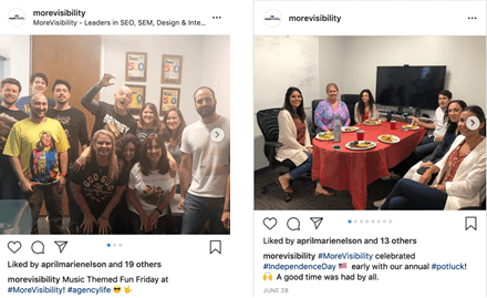 MoreVisibility Instagram Feed