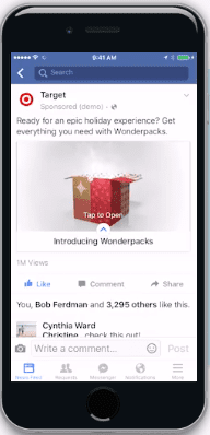 Facebook Canvas Image - Target Ad