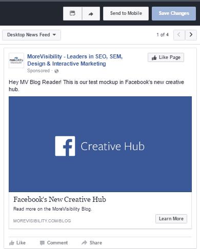 Facebook, Creative Hub