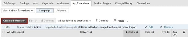 Google AdWords Callout Extension - Create Ad