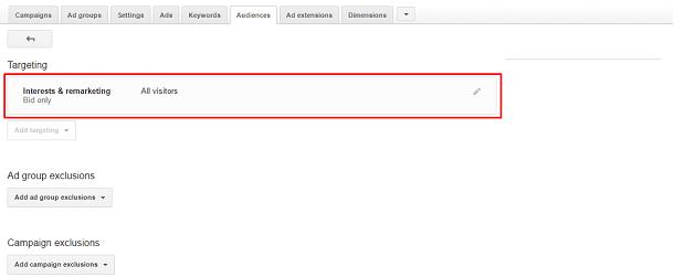 Google AdWords - RLSA - Targeting
