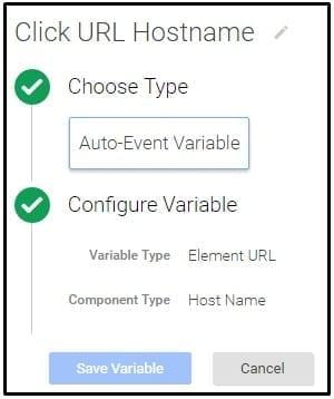 Google Tag Manager Click URL Hostname