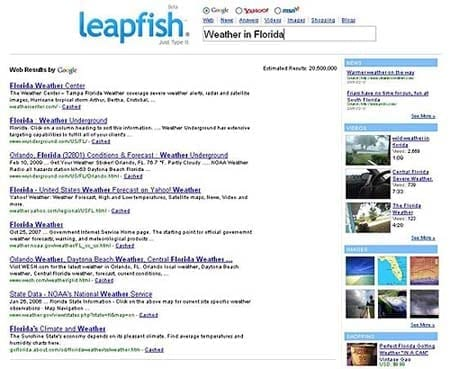LeapFishSearchExample