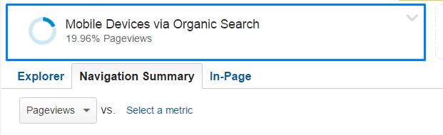 Navigation Summary Report - Google Analytics - Segment Addition