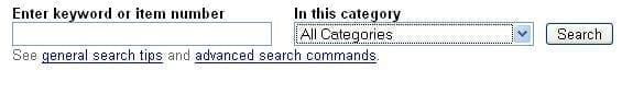 Google Advanced Search Bar