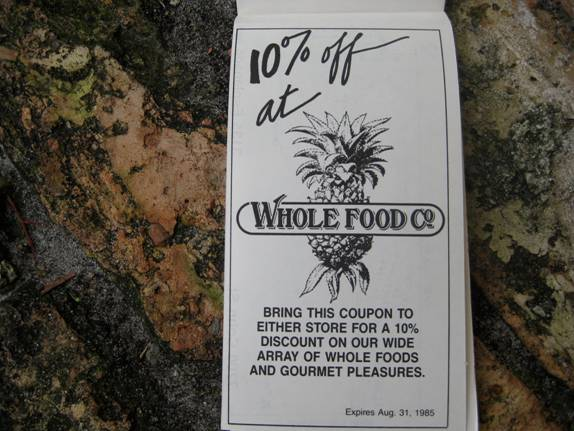 Wholefood Coupon