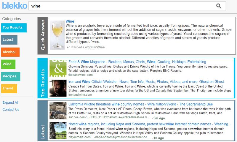 blekko search results