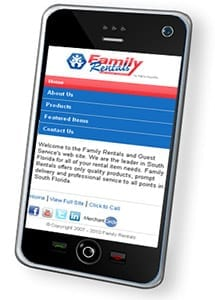 Family Rentals Mobile Site