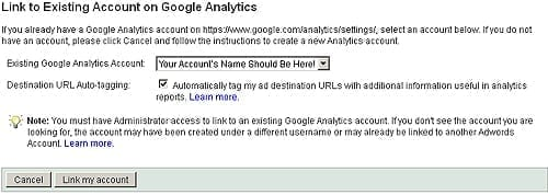 The Final Step in syncing your AdWords account