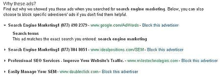 Google Gives Searchers Ad Choices