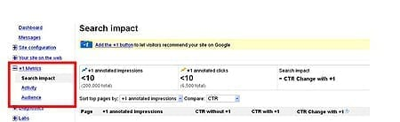 Google +1 Button Tracking in Webmaster Tools