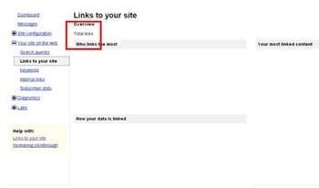 Google Webmaster Tools for Link Building