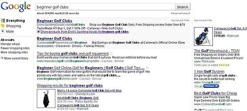 Google Searches Example