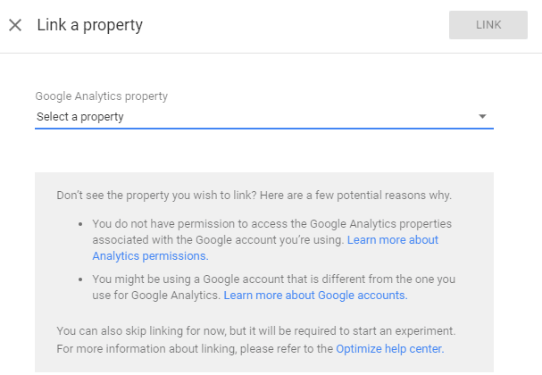 Link a Property