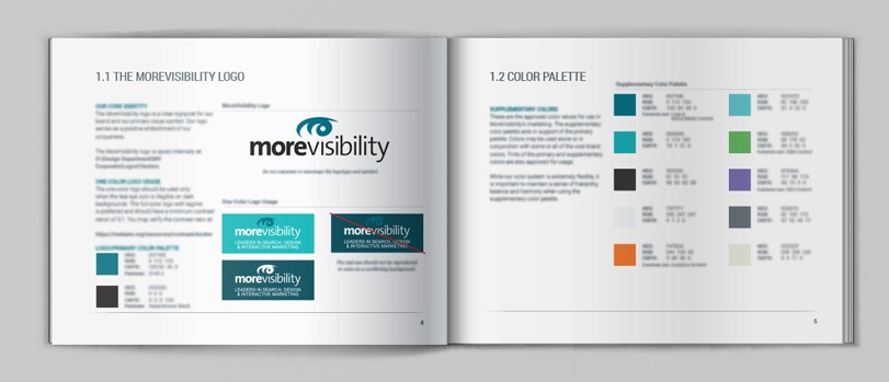 MoreVisibility Brand Guidelines Graphic
