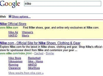 Nike in AdWords