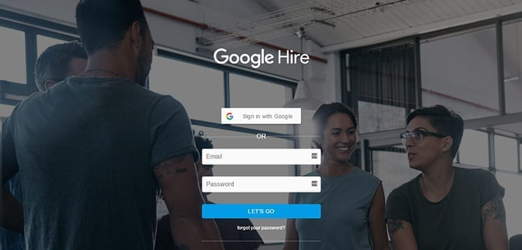 Google Hire Landing Page
