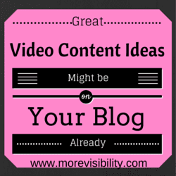 Video content ideas from your blog