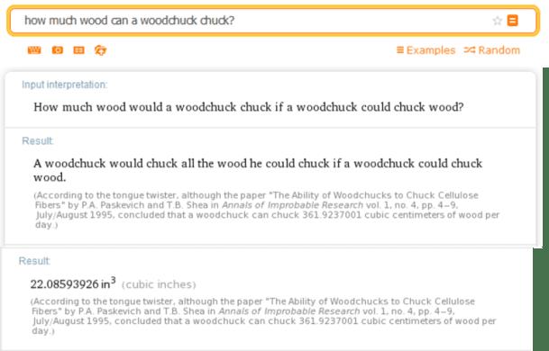 wolfram alpha woodchuck
